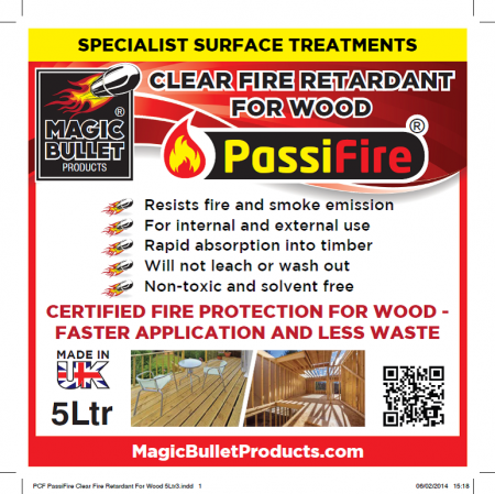Passifire Clear Fire Retardant for Wood